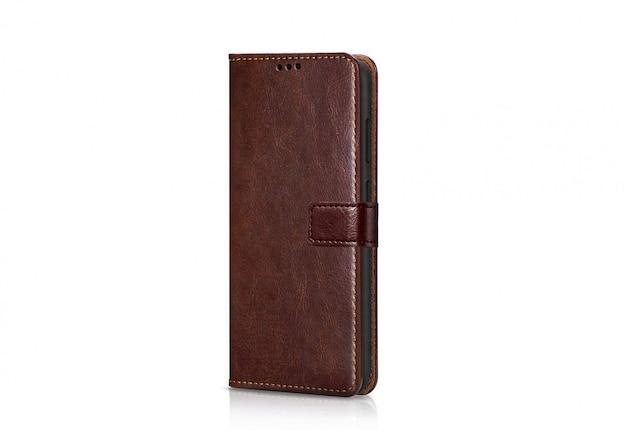 Изолированный коричневый кожаный бумажник