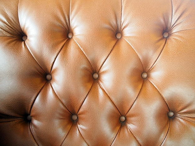 Brown luxury buttoned leather