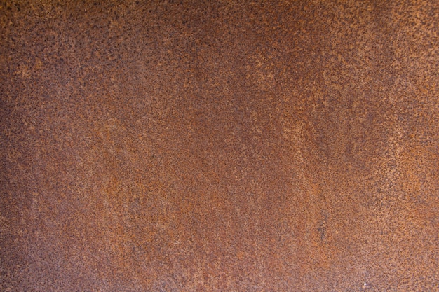 Brown metal background texture, metal steel vintage plate with some old scratch
