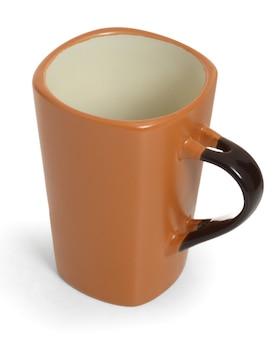 Brown mug isolated on white