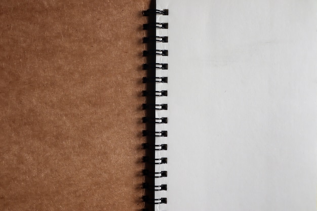 Brown note book that opens