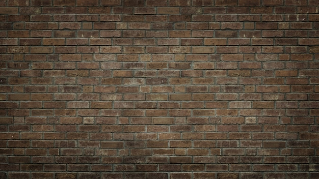 Brown old brick wall grunge  texture for copy space background