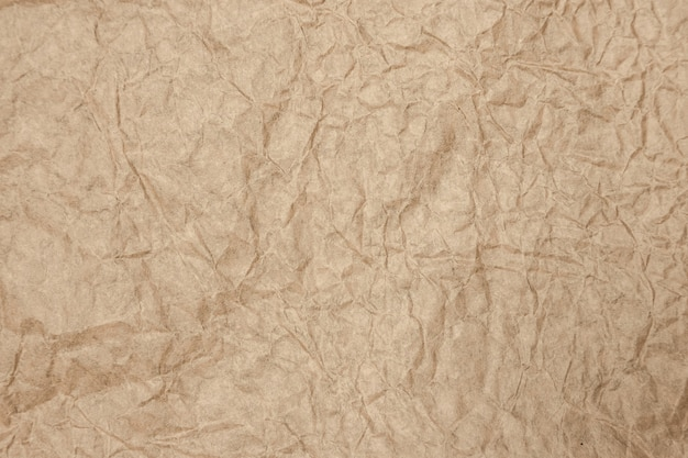 Brown old paper rough and crumpled background