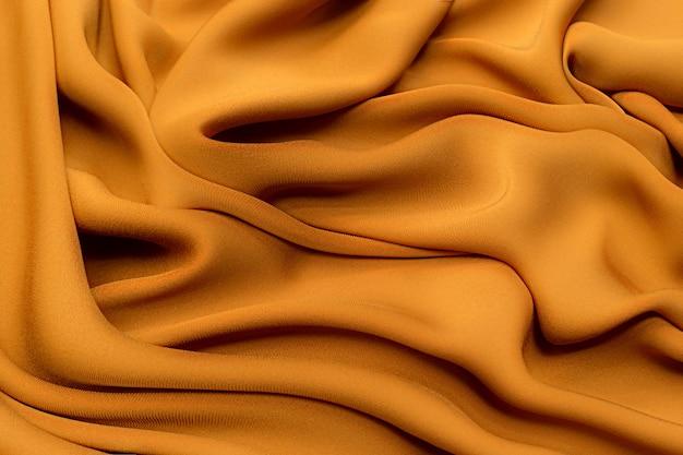 Коричнево-оранжевый крепдешин шелк