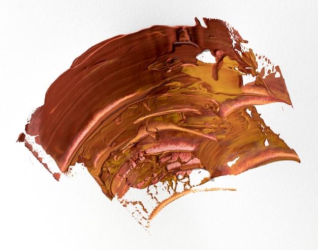 茶色の塗料汚れ抽象芸術