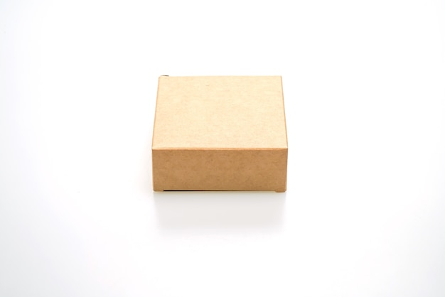 Brown paper box isolated on white