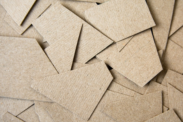 Brown paper cut background. material design background