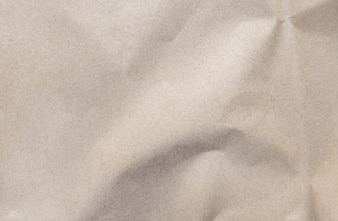 Brown paper texture. Wrinkled recycle paper background