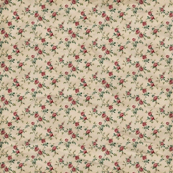 ブラウンパステルピンクとベージュヴィンテージ花柄背景パターン正方形デザイン