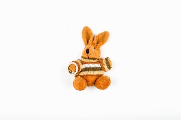 Brown plush hare