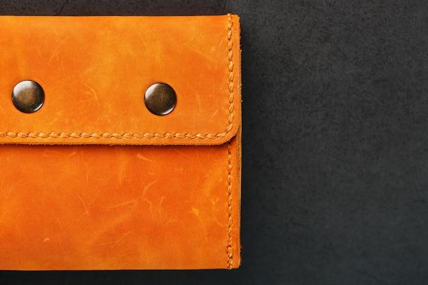 Коричневый кошелек, кошелек из натуральной кожи нубук на темном