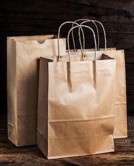 ブラウンリサイクル紙袋、茶色のリサイクル紙袋、