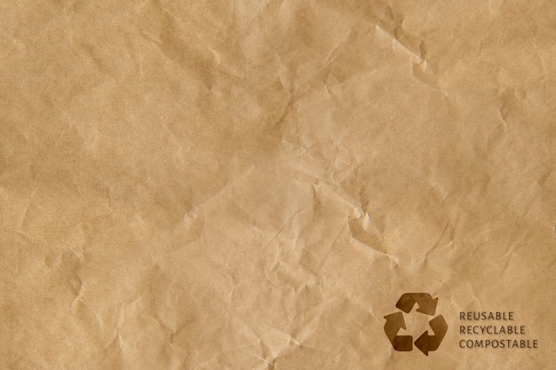 Коричневый фон символа рециркуляции многоразового вторичного использования компостируемой кампании