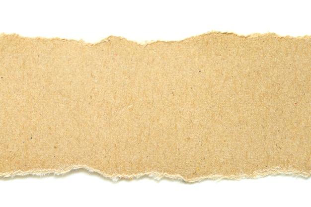 흰색 바탕에 갈색 찢어진 된 종이