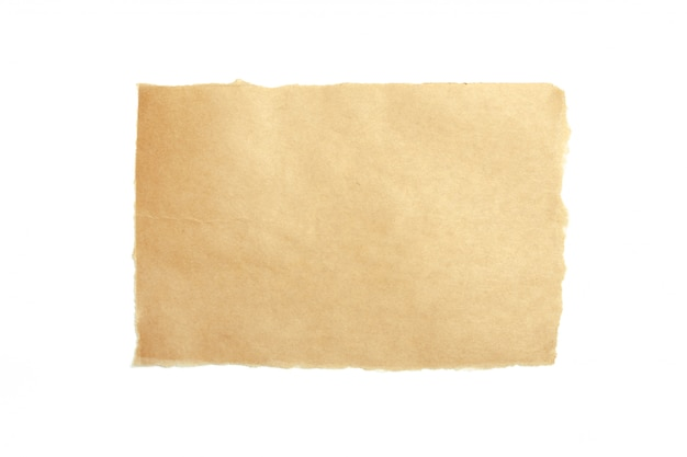 Brown ripped piece of paper