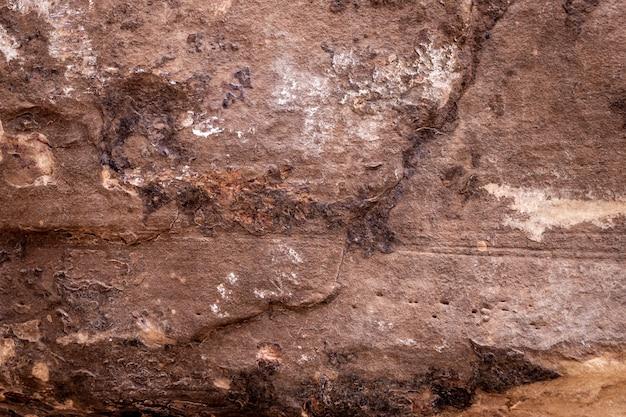 テクスチャ背景の茶色の岩層表面