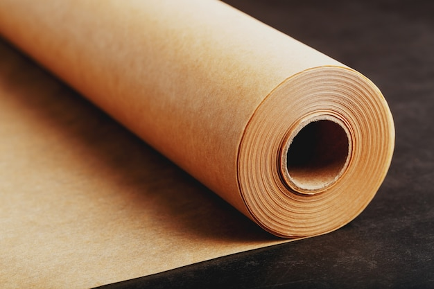 Brown rolled baking paper