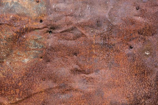 Коричневая ржавая и поцарапанная металлическая текстура поверхности