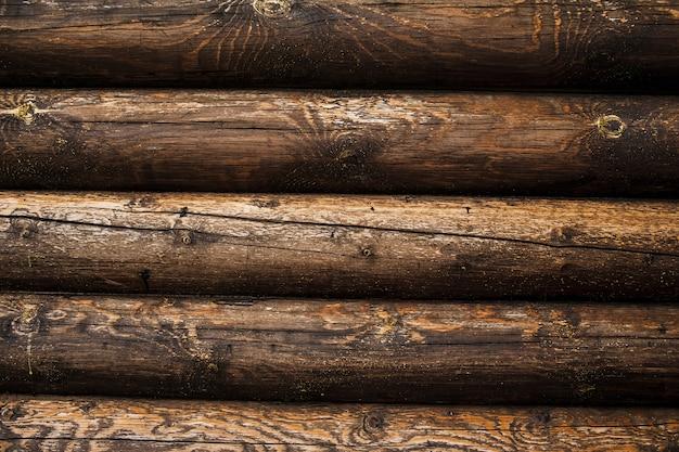 茶色の素朴な木製のテクスチャ