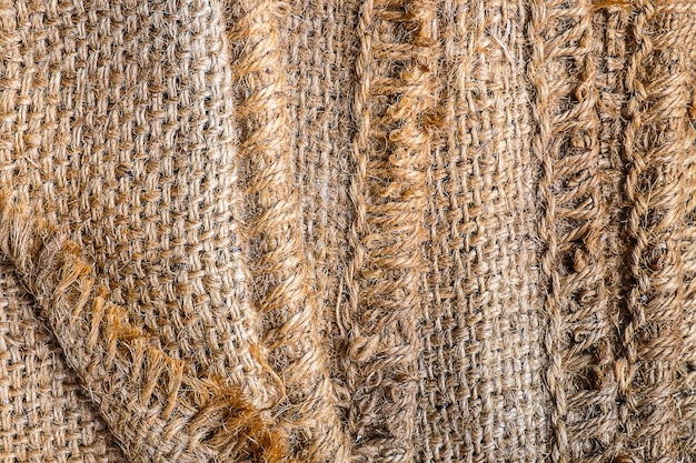 Brown sackcloth background