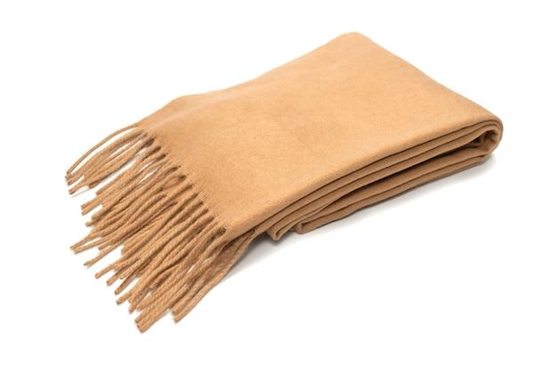 白い背景に分離された茶色のスカーフ。