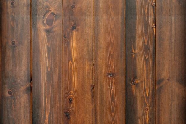 茶色の傷のある木の質感、コピースペースのある背景。バナー