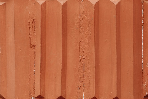 Brown siding background texture corrugated aged metal material for wall and fence veneer