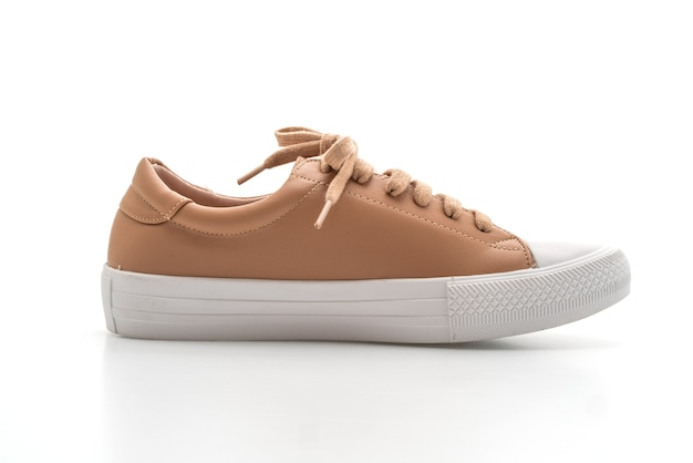 Brown sneakers isolated