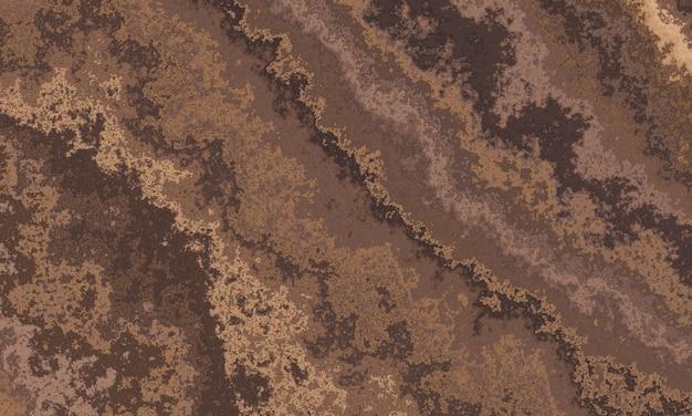 Слой коричневой почвы. выветрелые толщи отложений. поперечный разрез почвы и глинистой подстилки.