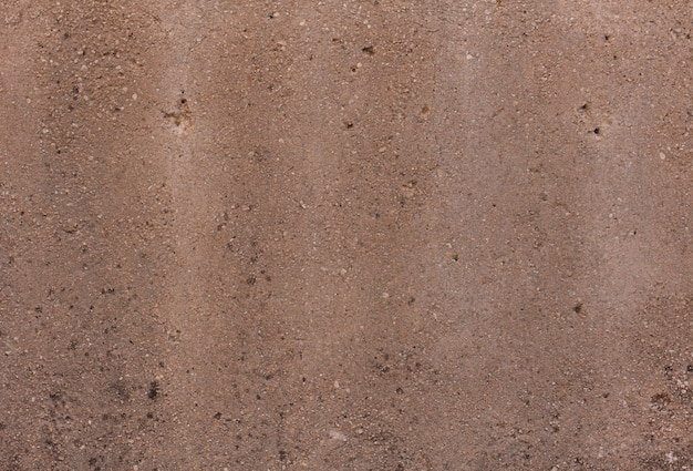 Brown stained asphalt surface