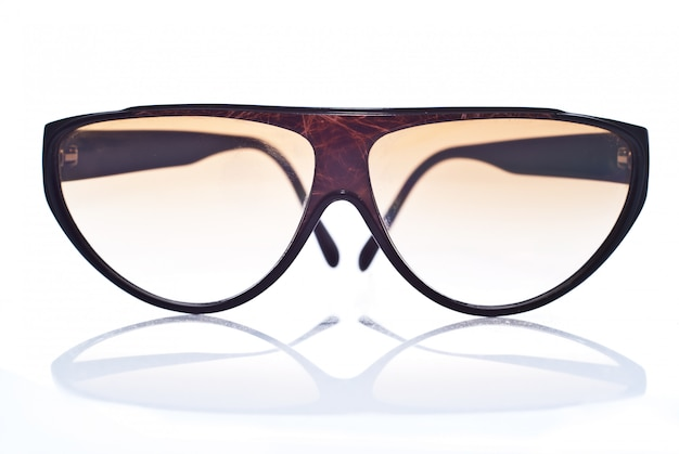 Brown sunglasses isolated