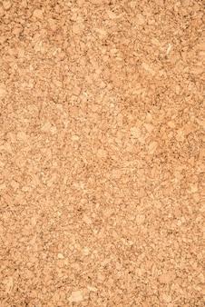 The brown textured cork closeup