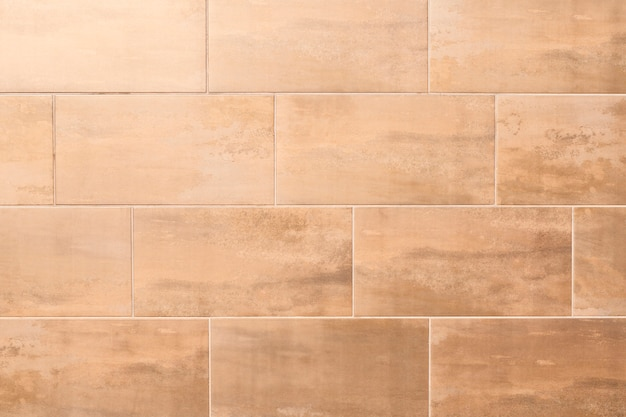 Brown tiled texture background