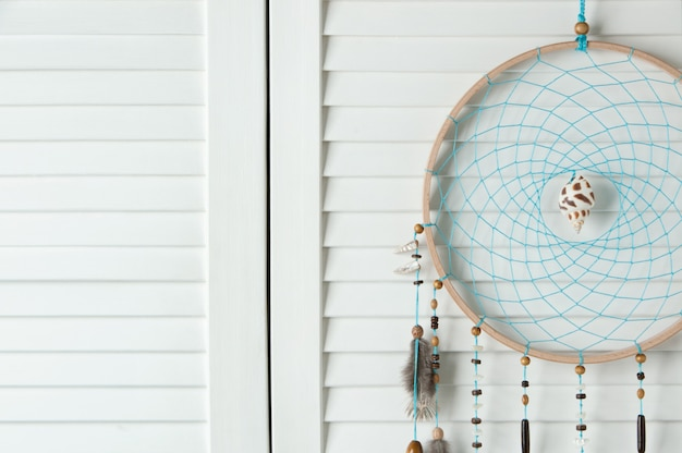 Brown turquoise dream catcher