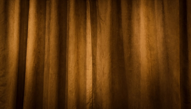 Brown velvet curtain