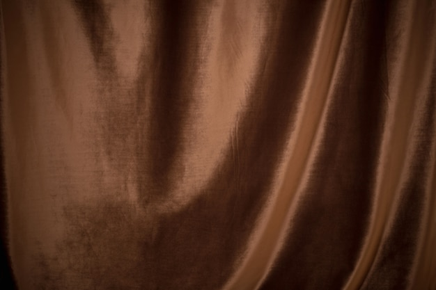 Brown  velvet fabric background close up