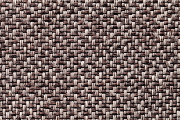Brown vintage fabric with woven texture