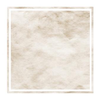 Brown watercolor rectangular frame