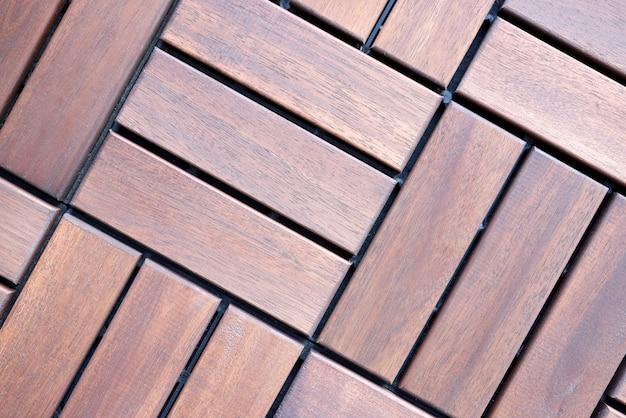 茶色の木の床タイルトップビュー