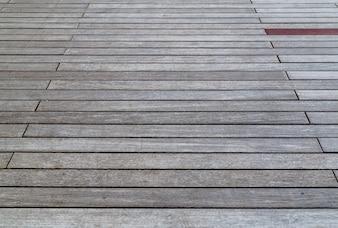 Brown wood floor