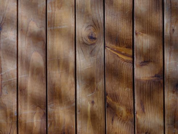 自然光と影のある茶色の木目調