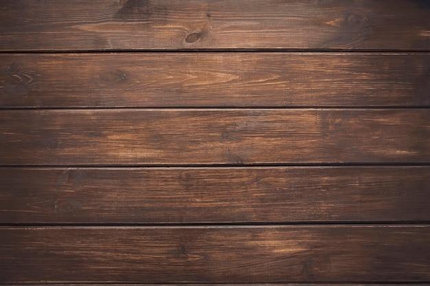 Коричневый деревянный фон из сосновых досок Premium Фотографии