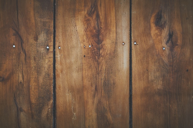 Brown wooden board of planks for background or wallpaper