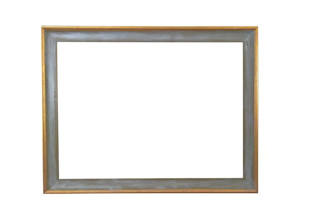 갈색 나무 프레임 흰색 배경에 고립입니다. 그림을 구성합니다. 고품질 사진