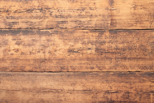 Brown wooden table background. wood texture of floor boards or wall