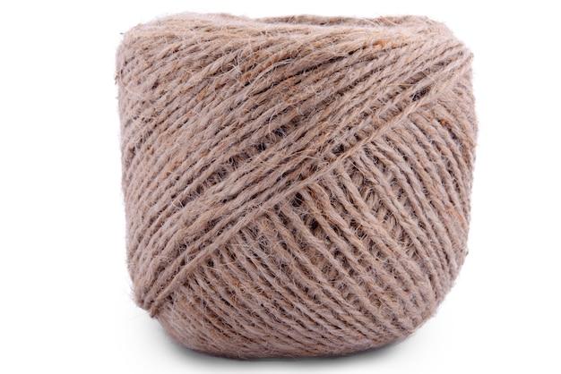 Brown wool yarn