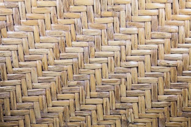 茶色の籐織りのテクスチャパターン
