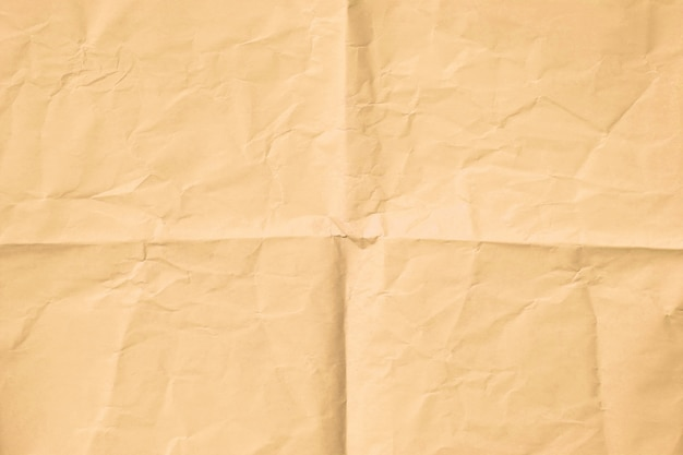 Brown wrinkled paper texture background