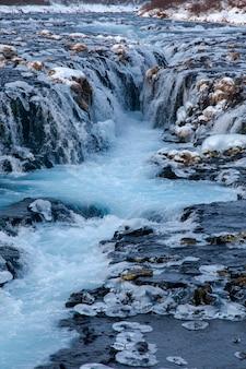 Bruarfoss, iceland waterfall