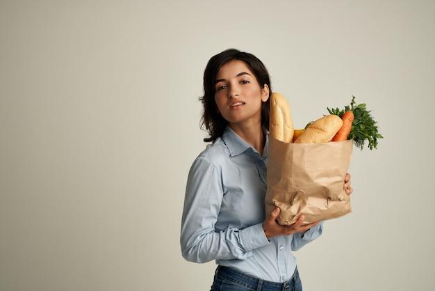野菜健康食品スーパーマーケットとブルネットパック